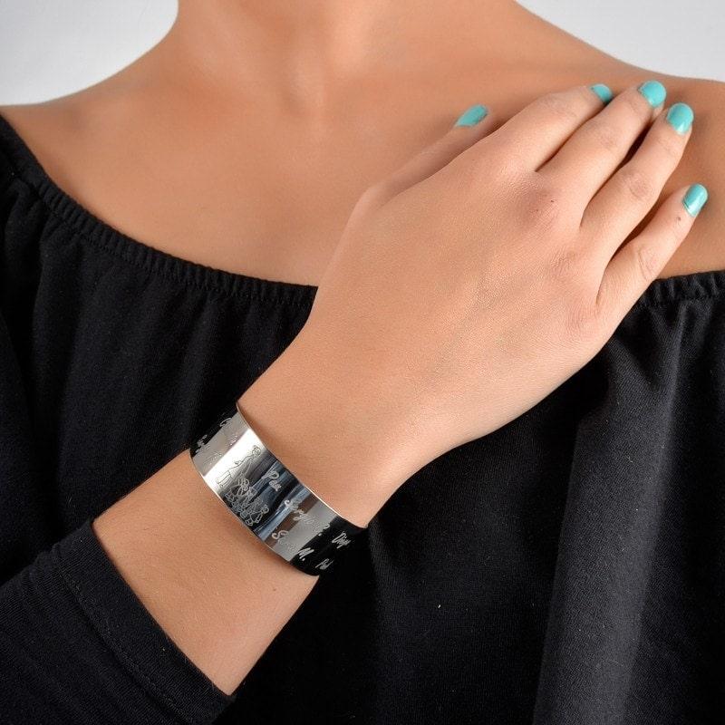 pulsera para maestras de plata