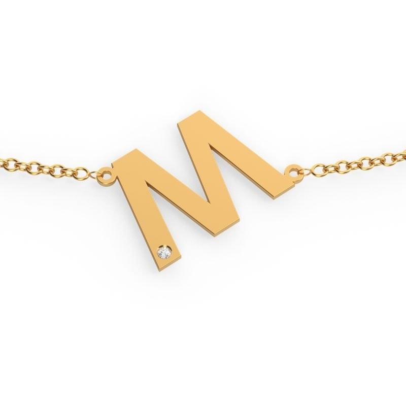 Collar de oro con tu inicial
