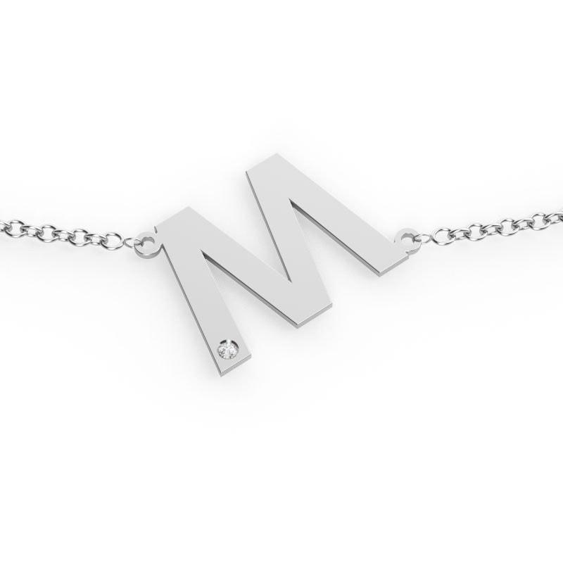 Collar de plata con tu inicial
