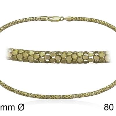 Cadena POP 4L 80 cm en plata Dorada
