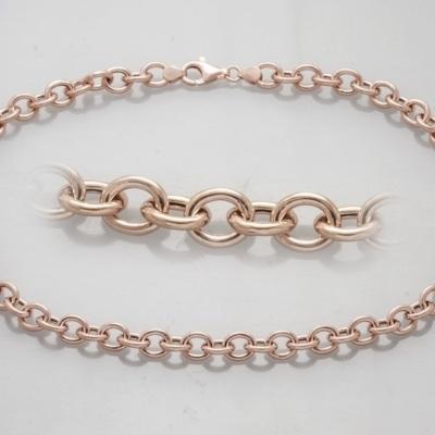 Cadena FORZATINA 45 cm en plata Rosa