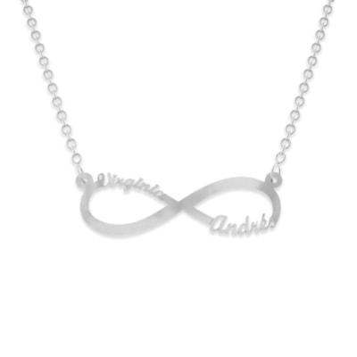 Collar de plata con infinito y nombre
