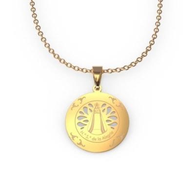 Medalla calada de oro